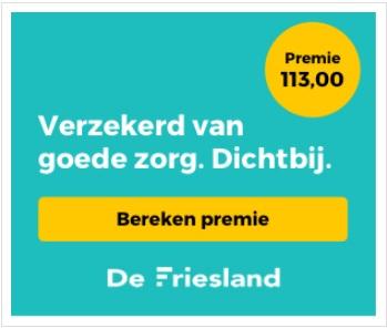 De Friesland Zorgverzekeraar_Premie berekenen
